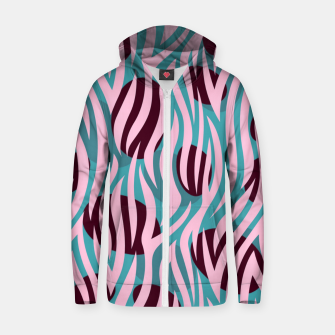Thumbnail image of Pink Zebra Madness Zip up hoodie, Live Heroes