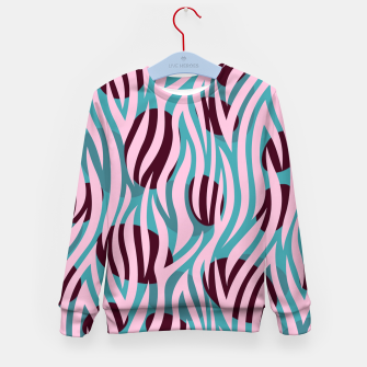 Thumbnail image of Pink Zebra Madness Kid's sweater, Live Heroes