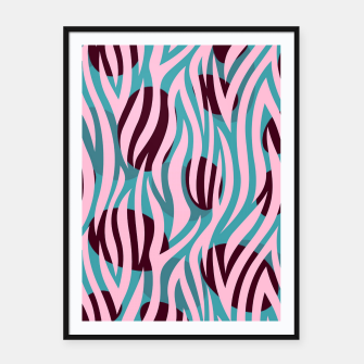 Thumbnail image of Pink Zebra Madness Framed poster, Live Heroes