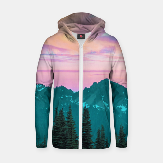 Thumbnail image of Holographic Sky Zip up hoodie, Live Heroes