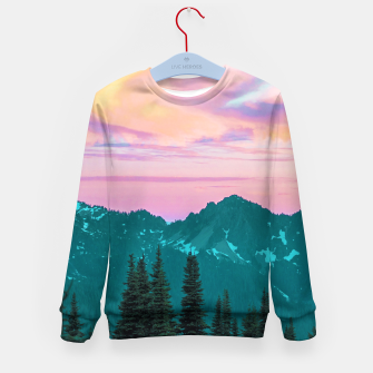 Thumbnail image of Holographic Sky Kid's sweater, Live Heroes