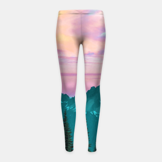 Thumbnail image of Holographic Sky Girl's leggings, Live Heroes
