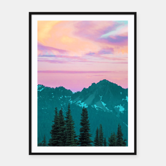 Thumbnail image of Holographic Sky Framed poster, Live Heroes