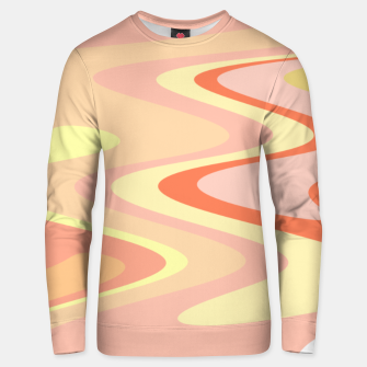 Miniatur River of dreams, pink and yellow waves, colorful stream of water Unisex sweater, Live Heroes