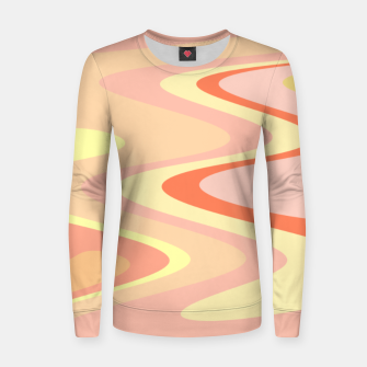 Miniatur River of dreams, pink and yellow waves, colorful stream of water Women sweater, Live Heroes