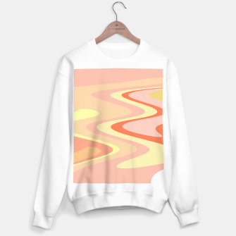 Miniatur River of dreams, pink and yellow waves, colorful stream of water Sweater regular, Live Heroes
