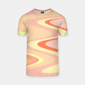 Miniatur River of dreams, pink and yellow waves, colorful stream of water T-shirt, Live Heroes