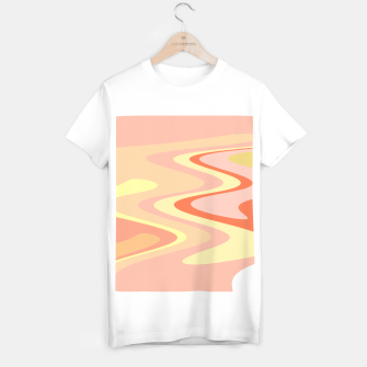 Miniatur River of dreams, pink and yellow waves, colorful stream of water T-shirt regular, Live Heroes
