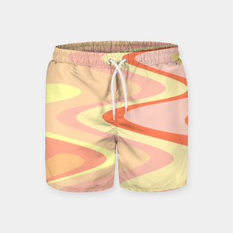 Miniatur River of dreams, pink and yellow waves, colorful stream of water Swim Shorts, Live Heroes
