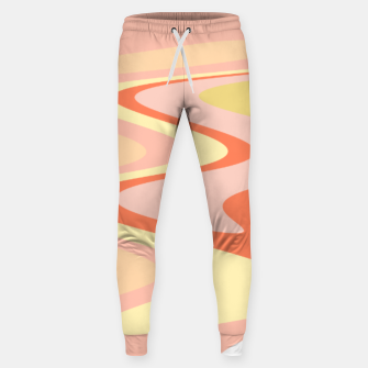 Miniatur River of dreams, pink and yellow waves, colorful stream of water Sweatpants, Live Heroes