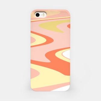 Miniatur River of dreams, pink and yellow waves, colorful stream of water iPhone Case, Live Heroes