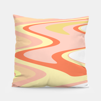 Miniatur River of dreams, pink and yellow waves, colorful stream of water Pillow, Live Heroes