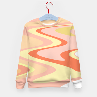 Miniatur River of dreams, pink and yellow waves, colorful stream of water Kid's sweater, Live Heroes