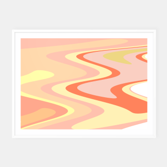Miniatur River of dreams, pink and yellow waves, colorful stream of water Framed poster, Live Heroes