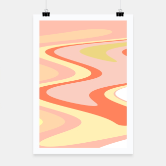 Miniatur River of dreams, pink and yellow waves, colorful stream of water Poster, Live Heroes