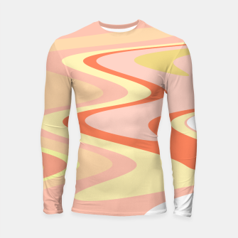 Miniatur River of dreams, pink and yellow waves, colorful stream of water Longsleeve rashguard , Live Heroes