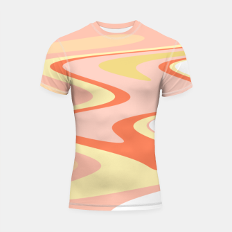 Miniatur River of dreams, pink and yellow waves, colorful stream of water Shortsleeve rashguard, Live Heroes