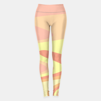 Miniatur River of dreams, pink and yellow waves, colorful stream of water Leggings, Live Heroes
