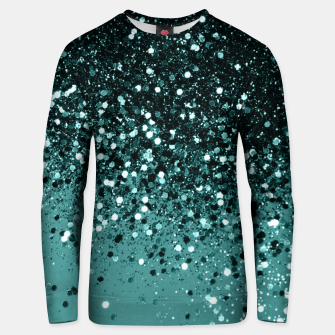 Teal Mermaid Ocean Glitter #3 #shiny #decor #art Unisex sweatshirt miniature