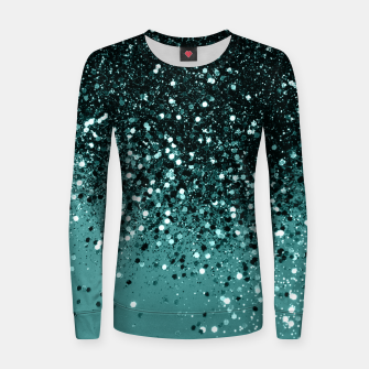 Teal Mermaid Ocean Glitter #3 #shiny #decor #art Frauen sweatshirt miniature