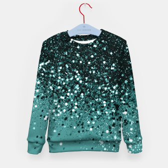 Teal Mermaid Ocean Glitter #3 #shiny #decor #art Kindersweatshirt miniature