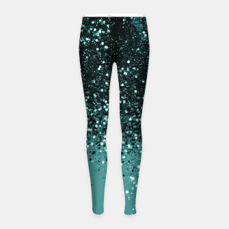 Miniaturka Teal Mermaid Ocean Glitter #3 #shiny #decor #art Kinder-Leggins, Live Heroes