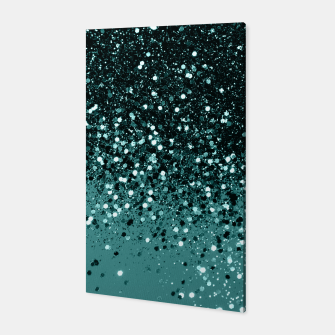 Teal Mermaid Ocean Glitter #3 #shiny #decor #art Canvas miniature