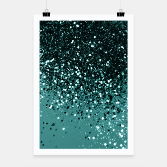 Miniatur Teal Mermaid Ocean Glitter #3 #shiny #decor #art Plakat, Live Heroes