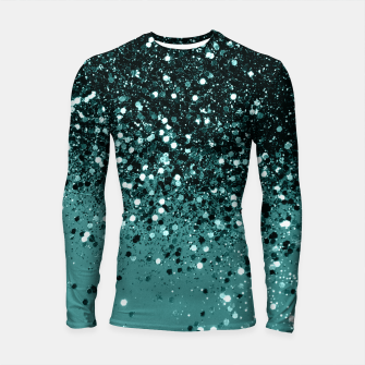 Teal Mermaid Ocean Glitter #3 #shiny #decor #art Longsleeve rashguard miniature