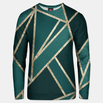 Classic Teal Champagne Gold Geo #1 #geometric #decor #art  Unisex sweatshirt miniature