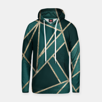 Classic Teal Champagne Gold Geo #1 #geometric #decor #art  Kapuzenpullover miniature