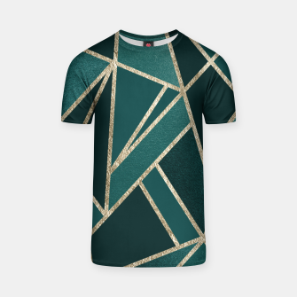 Thumbnail image of Classic Teal Champagne Gold Geo #1 #geometric #decor #art  T-Shirt, Live Heroes
