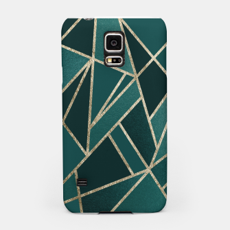 Thumbnail image of Classic Teal Champagne Gold Geo #1 #geometric #decor #art  Handyhülle für Samsung, Live Heroes