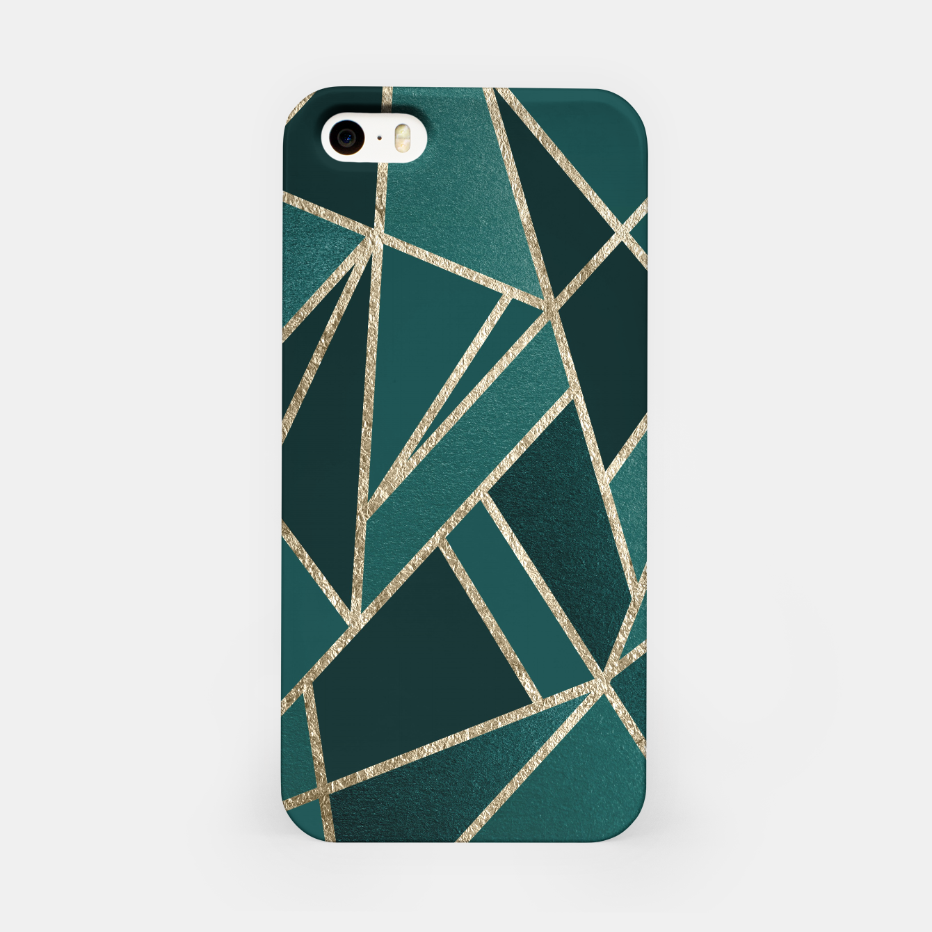 Image of Classic Teal Champagne Gold Geo #1 #geometric #decor #art  iPhone-Hülle - Live Heroes