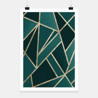 Classic Teal Champagne Gold Geo #1 #geometric #decor #art  Plakat miniature