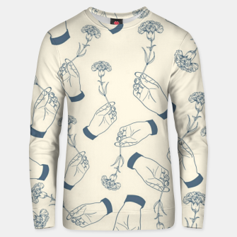 Thumbnail image of Aesthetic flowers Unisex sweater, Live Heroes