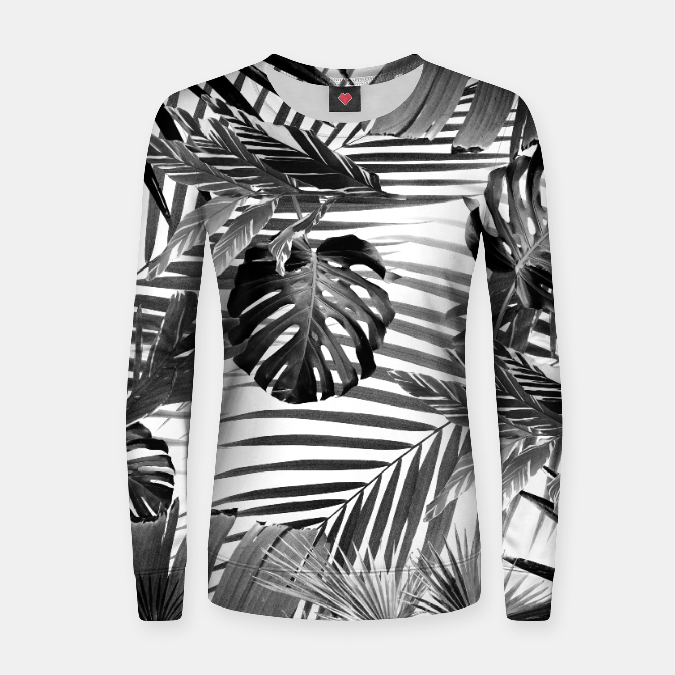 Image of Tropical Jungle Leaves Siesta #4 #tropical #decor #art Frauen sweatshirt - Live Heroes