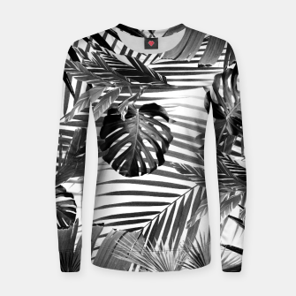Thumbnail image of Tropical Jungle Leaves Siesta #4 #tropical #decor #art Frauen sweatshirt, Live Heroes