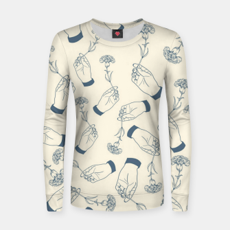 Thumbnail image of Aesthetic flowers Women sweater, Live Heroes