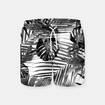 Miniatur Tropical Jungle Leaves Siesta #4 #tropical #decor #art Badeshorts, Live Heroes