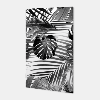 Tropical Jungle Leaves Siesta #4 #tropical #decor #art Canvas miniature