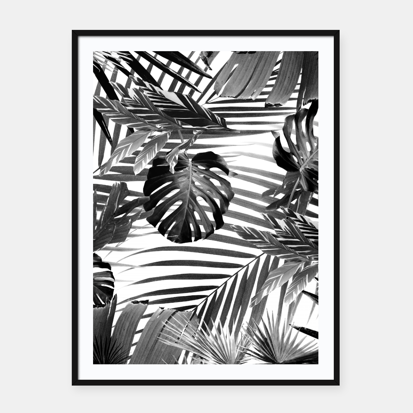 Foto Tropical Jungle Leaves Siesta #4 #tropical #decor #art Plakat mit rahmen - Live Heroes