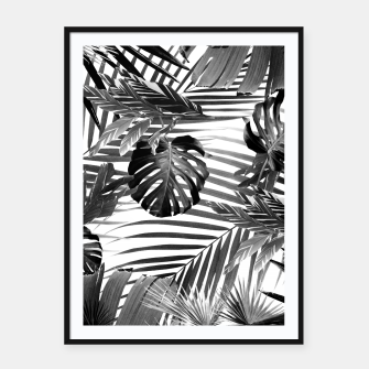 Tropical Jungle Leaves Siesta #4 #tropical #decor #art Plakat mit rahmen miniature