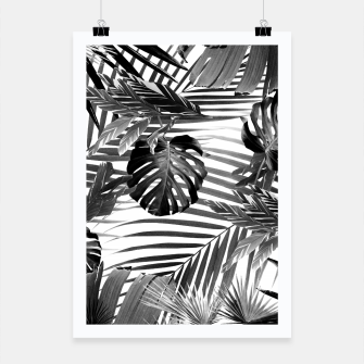 Tropical Jungle Leaves Siesta #4 #tropical #decor #art Plakat miniature