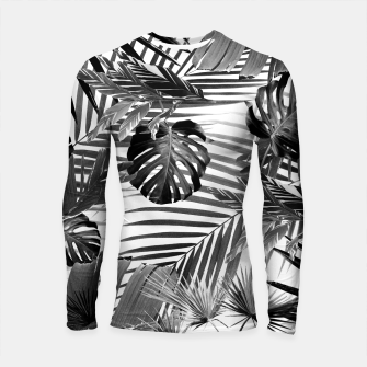 Tropical Jungle Leaves Siesta #4 #tropical #decor #art Longsleeve rashguard miniature