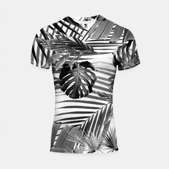 Tropical Jungle Leaves Siesta #4 #tropical #decor #art Shortsleeve rashguard miniature