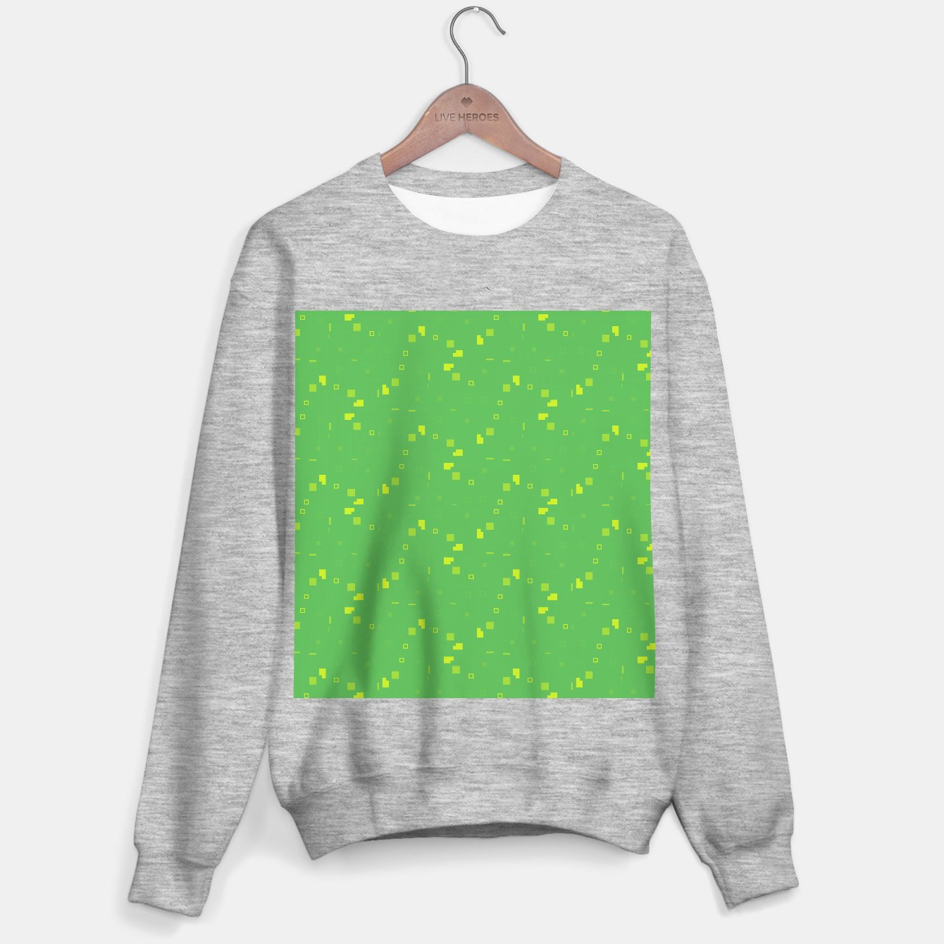 Image of Simple Geometric Pattern 3 gy Sweater regular - Live Heroes