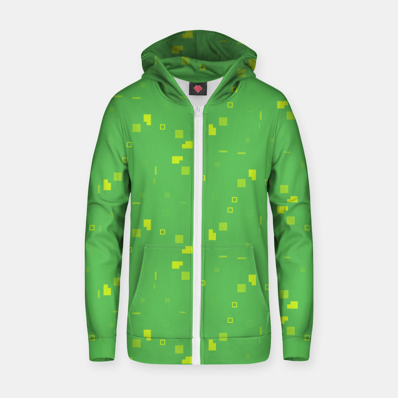 Image of Simple Geometric Pattern 3 gy Zip up hoodie - Live Heroes