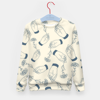 Thumbnail image of Aesthetic flowers Kid's sweater, Live Heroes