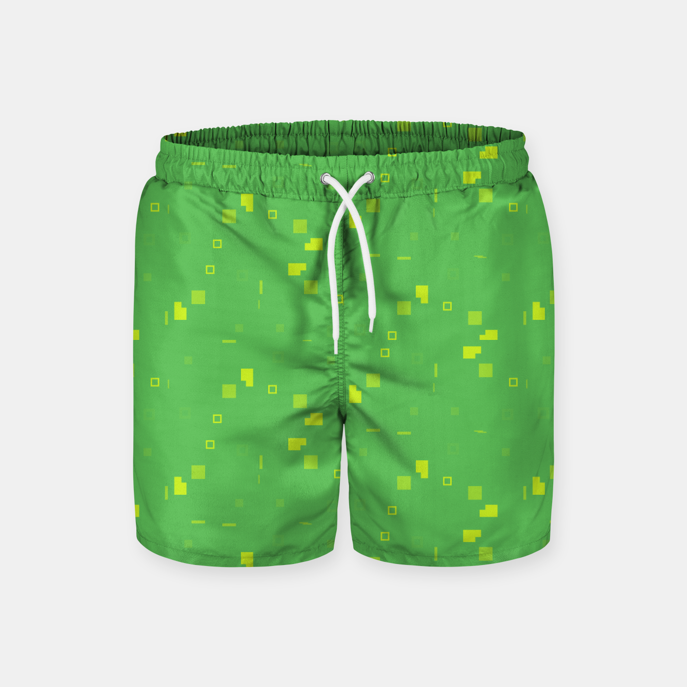 Image of Simple Geometric Pattern 3 gy Swim Shorts - Live Heroes